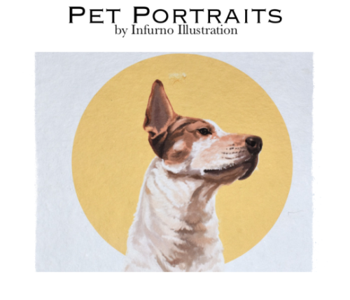 dantesinfurno: pet portrait commissions are OPEN! 4×6 busts -…